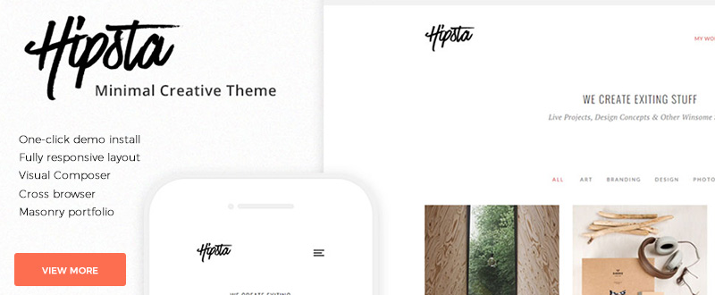 Hipsta – Minimal Creative WP Theme